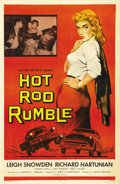 "Movie Posters:Drama, Hot Rod Rumble (Allied Artists, 1957). One Sheet (27"" X 41""). Oneof the greatest hot rod posters ever produced, this one sh..."