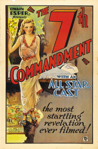 """The 7th Commandment (Roadshow Attractions, 1932). One Sheet (27"""" X 41""""). Little is known about this film as it..."""