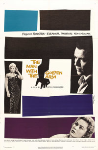 "The Man With the Golden Arm (United Artists, 1955). One Sheet (27"" X 41""). One of the films that brought down..."