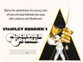 "A Clockwork Orange (Warner Brothers, 1971). British Quad (30"" X 40""). Stanley Kubrick's adaptation of Anthony..."