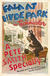 """Fala at Hyde Park (MGM, 1946). One Sheet (27"""" X 41""""). Pete Smith was the head of the publicity department at M..."""