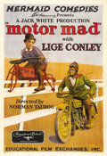 "Movie Posters:Comedy, Motor Mad (Educational Films, 1924). One Sheet (27"" X 41""). Lige Conley worked in comedy shorts beginning in 1916. Here he i..."