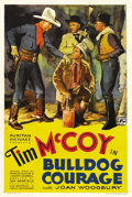 """Movie Posters:Western, Bulldog Courage (Puritan Pictures, 1935). One Sheet (27"""" X 41""""). Western star Tim McCoy plays a dual role in this feature ab..."""