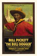 "Movie Posters:Western, The Bull-Dogger (Norman Film Manufacturing, 1921). One Sheet (27"" X41""). Bill Pickett, a rodeo stuntman who had become a Wo..."