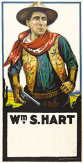 """Movie Posters:Western, William S. Hart Stock Poster (United Artists, 1920). Three Sheet (41"""" X 81""""). William S. Hart was the most popular western m..."""