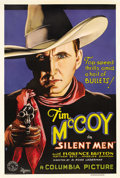 "Movie Posters:Western, Silent Men (Columbia, 1933). One Sheet (27"" X 41""). Tim McCoy playsa cowboy who escapes from jail while serving a sentence ..."