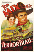 "Movie Posters:Western, Terror Trail (Universal, 1933). One Sheet (27"" X 41""). A gang ofhorse thieves is able to operate because the crooked local ..."