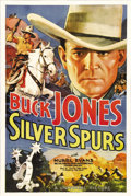 "Movie Posters:Comedy, Silver Spurs (Universal, 1936). One Sheet (27"" X 41""). With hisfamed horse Silver, Buck Jones was one of the most successfu..."