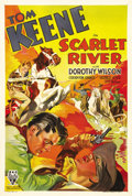 """Movie Posters:Western, Scarlet River (RKO, 1933). One Sheet (27"""" X 41""""). This early sound western comedy starring Tom Keene cleverly spoofed the Ho..."""