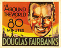 """Movie Posters:Documentary, Around the World in 80 Minutes (United Artists, 1931). Half Sheet (22"""" X 28""""). An early example of a """"vanity"""" production, th..."""