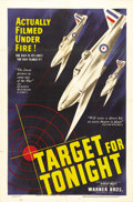 """Movie Posters:Documentary, Target for Tonight (Warner Brothers, 1941). One Sheet (27"""" X 41""""). A first-rate World War II documentary drama, this 48 minu..."""