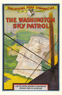 """The Washington Sky Patrol (Educational Films, 1918). One Sheet (27"""" X 41""""). In 1918 audiences were thrilled wi..."""