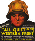 "Movie Posters:War, All Quiet on the Western Front (Universal, 1930). Counter Standee (14.5"" X 17""). One of the most powerful anti-war statement..."