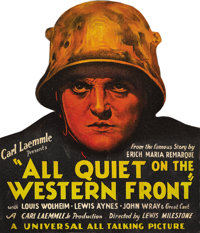 """All Quiet on the Western Front (Universal, 1930). Counter Standee (14.5"""" X 17""""). One of the most powerful anti..."""