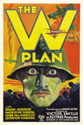 """Movie Posters:War, The W Plan (RKO, 1931). One Sheet (27"""" X 41""""). This poster featuresa striking image - not unlike the one sheet from """"All Qu..."""
