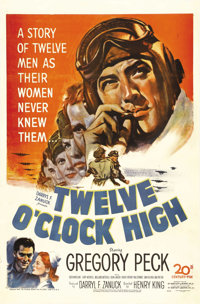 """Twelve O'Clock High (20th Century Fox, 1949). One Sheet (27"""" X 41""""). This psychological study of the pressures..."""