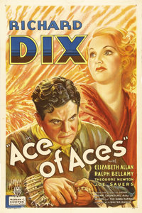 """Ace of Aces (RKO, 1933). One Sheet (27"""" X 41""""). Based on the book """"Bird of Prey"""" by John Monk Saunde..."""