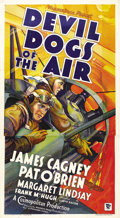 "Movie Posters:Action, Devil Dogs of the Air (Warner Brothers, 1935). Three Sheet (41"" X81""). Adapted from a novel by John Monk Saunders The Daw..."