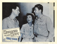 "Hellcats of the Navy (Columbia, 1957). Lobby Card (11"" X 14""). Ronald Reagan and Nancy Davis appear in this, t..."