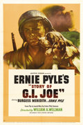 """Movie Posters:War, Story of G.I. Joe (United Artists, 1945). One Sheet (27"""" X 41"""").Burgess Meredith, who would go on to fame in later years as..."""