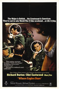 """Movie Posters:War, Where Eagles Dare (MGM, 1968). One Sheet (27"""" X 41"""") Style B. Thisearly starring role for Clint Eastwood, co-starring Richa..."""
