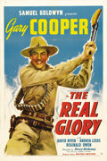 "Movie Posters:War, The Real Glory (United Artists, 1939). One Sheet (27"" X 41""). GaryCooper stars as an American Marine doctor in this adventu..."