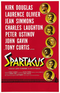"Movie Posters:Adventure, Spartacus (Universal International, 1960). One Sheet (27"" X 41"").Kirk Douglas was so enamored with Stanley Kubrick's direct..."