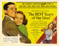 "Movie Posters:Drama, Best Years of Our Lives (RKO, 1946). Half Sheet (22"" X 28""). Thefirst great post-WWII examination of the psychology of Amer..."