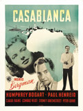 "Movie Posters:Drama, Casablanca (Warner Brothers, 1942). Swedish One Sheet (24"" X 34"").Nice graphics on this first release Swedish poster for th..."