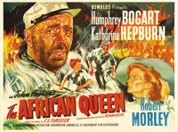 "The African Queen (United Artists, 1952). British Quad (30"" X 40""). John Huston directed critic James Agee's a..."