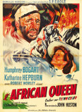 """Movie Posters:Adventure, The African Queen (United Artists, 1952). French Grande (47"""" X63""""). Humphrey Bogart as an aging alcoholic river boat captai..."""