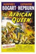 "Movie Posters:Adventure, The African Queen (United Artists, 1952). One Sheet (27"" X 41"").Opposites attract as a drunken riverboat captain and a ""cra..."