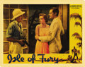 "Movie Posters:Adventure, Isle of Fury (Warner Brothers, 1936). Lobby Card (11"" X 14"").Humphrey Bogart stars in this love story set in the south Paci..."