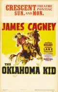 "Movie Posters:Western, The Oklahoma Kid (Warner Brothers, 1939). Window Card (14"" X 22""). Usually, when Humphrey Bogart angered Jack Warner by comp..."