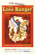 "Movie Posters:Western, The Lone Ranger (Warner Brothers, 1956). One Sheet (27"" X 41""). Clayton Moore and Jay Silverheels star in their most famous ..."