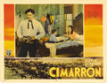 "Movie Posters:Western, Cimarron (RKO, 1931). Lobby Cards (3) (11"" X 14""). Richard Dix is arestless man of the West, and Irene Dunne his steadfast ... (Total:3 Items)"