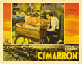 "Movie Posters:Western, Cimarron (RKO, 1931). Lobby Cards (2) (11"" X 14""). Richard Dix andIrene Dunne star as Yancey and Sabra Cravat, settlers hop...(Total: 2 Items)"