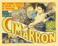 """Cimarron (RKO, 1931). Title Lobby Card (11"""" X 14""""). The first Western to win the Best Picture Oscar tells the..."""