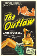 """Movie Posters:Western, The Outlaw (United Artists, 1946). One Sheet (27"""" X 41""""). This was the official first release of Howard Hughes's western tha..."""