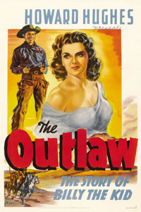 "The Outlaw (20th Century Fox, 1941). One Sheet (27"" X 41"") Style A. Here it is. This is the only surviving one..."