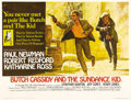 "Movie Posters:Western, Butch Cassidy and the Sundance Kid (20th Century Fox, 1969). British Quad (30"" X 40""). Paul Newman and Robert Redford practi..."
