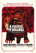 "Movie Posters:Western, A Fistful of Dollars (United Artists, 1967). One Sheet (27"" X 41"").This revisionist western appeared out of nowhere in 1964..."