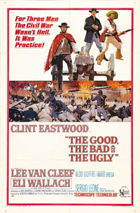 """The Good, the Bad, and the Ugly (United Artists, 1968). One Sheet (27"""" X 41""""). Clint Eastwood, Lee Van Cleef a..."""