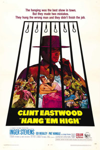 "Hang 'Em High (United Artists, 1968). One Sheet (27"" X 41""). This epic tale of revenge did very well at the bo..."