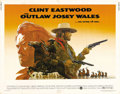 "Movie Posters:Western, The Outlaw Josey Wales (Warner Brothers, 1976). Half Sheet (22"" X28""). Considered by many Clint Eastwood afficionados to be..."