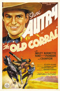 "Movie Posters:Western, The Old Corral (Republic, 1936). One Sheet (27"" X 41""). This isGene Autry's third starring role and casts him as the sherif..."