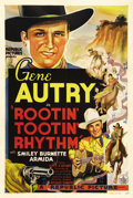 "Movie Posters:Western, Rootin' Tootin' Rhythm (Republic, 1937). One Sheet (27"" X 41""). Gene Autry rides the range again, a singin' and a shootin' h..."
