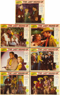 "Movie Posters:Western, The Last Round-Up (Paramount, 1934). Lobby Cards (7) (11"" X 14""). Based on the novel ""The Border Legion"" by Zane Grey, Monte... (Total: 7 Items)"