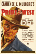 "Movie Posters:Western, Pride of the West (Paramount, 1938). One Sheet (27"" X 41""). William Boyd had been a thriving action hero and romantic lead i..."