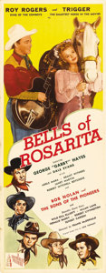 """Movie Posters:Western, Bells of Rosarita (Republic, 1945). Insert (14"""" X 36""""). Here it is, B Western fans. The all-star cowboy roundup of the 1940s..."""